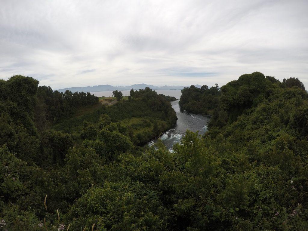 Desague lago Ranco